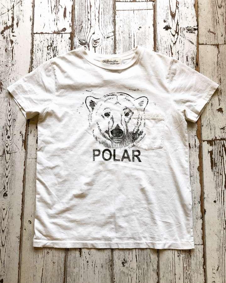 シロクマ ポケットTシャツ