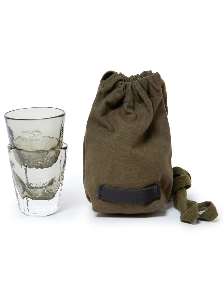 hobo×TRUCK 2 Shot Glasses with Paraffin Cotton Canvas Pouch