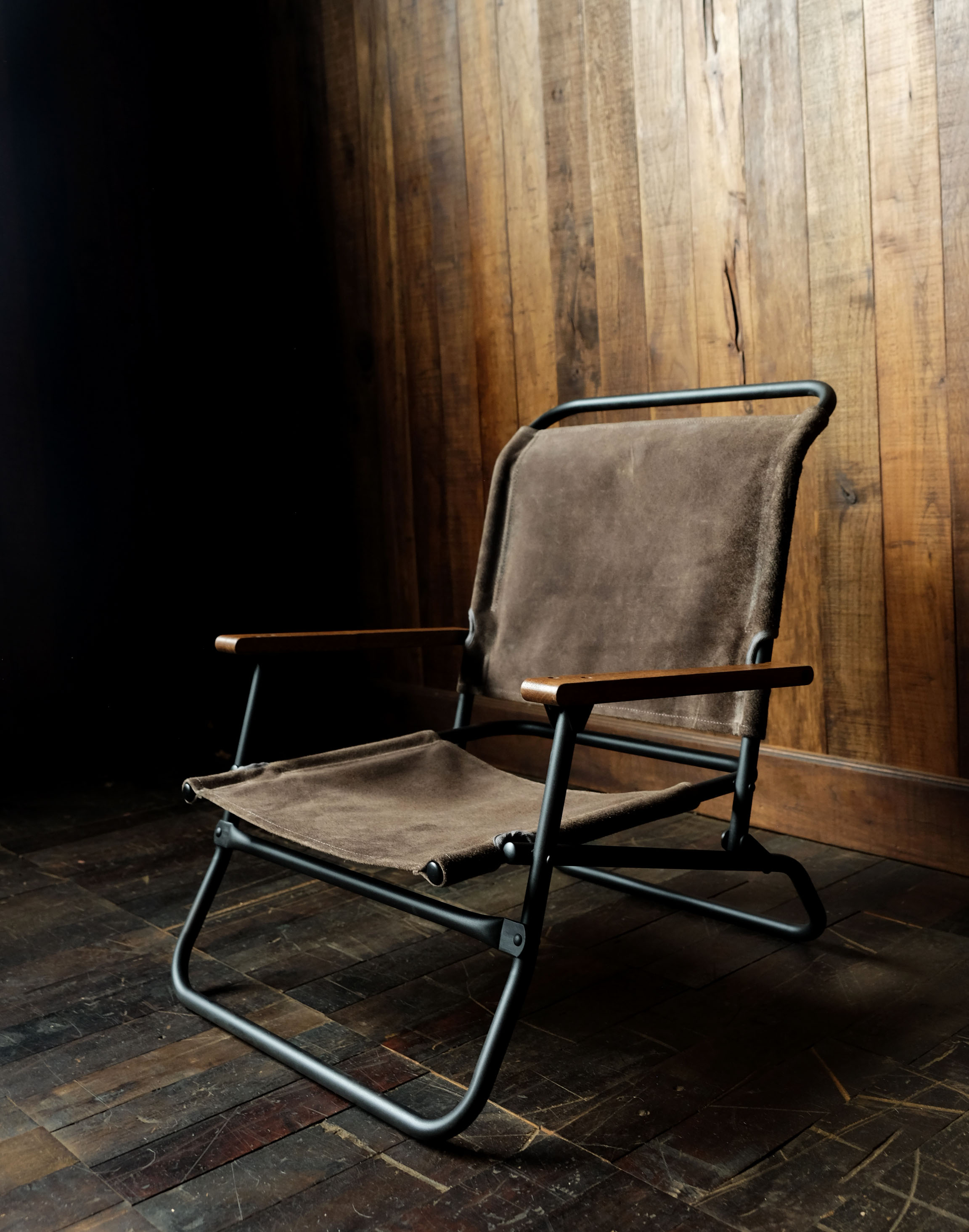 hobo×TRUCK Waterproof Leather Folding Low Chair